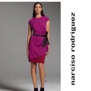 NWT Narciso Rodríguez Mulberry/Burg Dress